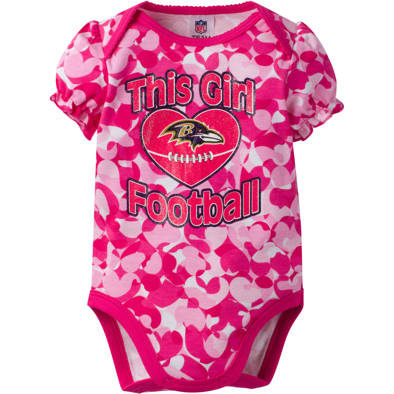 Ravens Infant Girl Camo Bodysuit