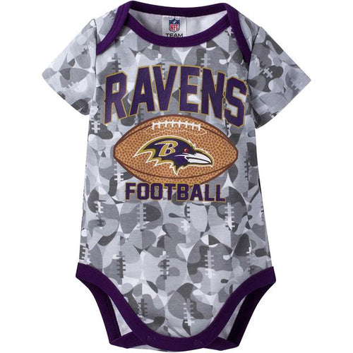 Baltimore Ravens Baby Camo Football Bodysuit