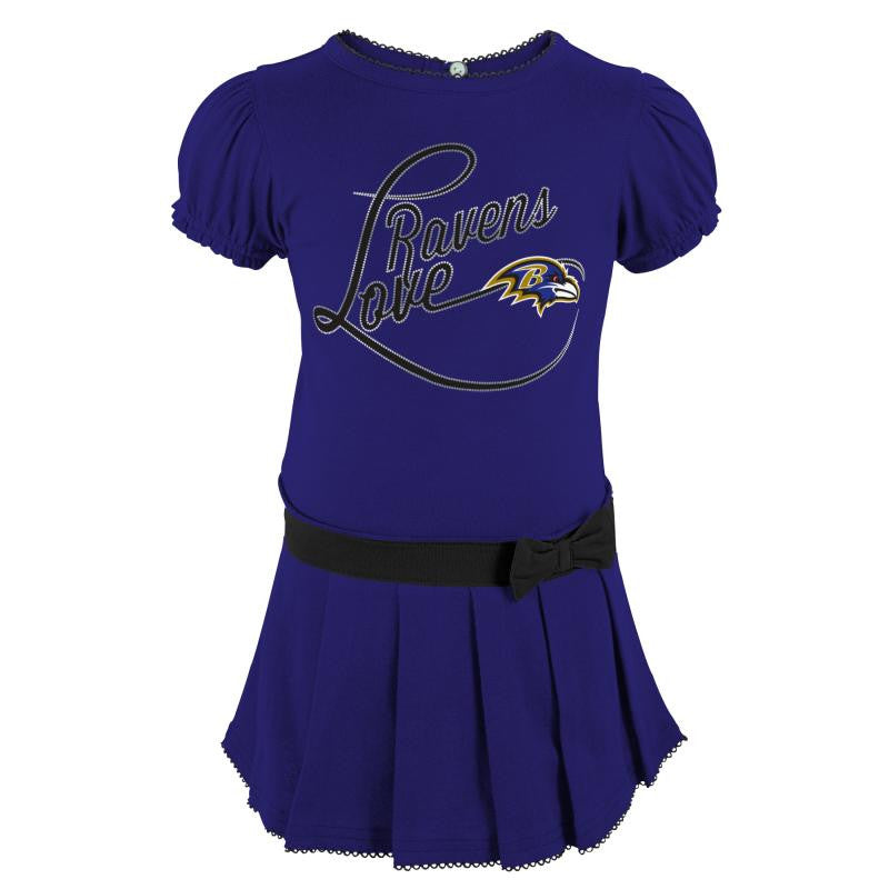 Ravens Girl Drop Waist Dress