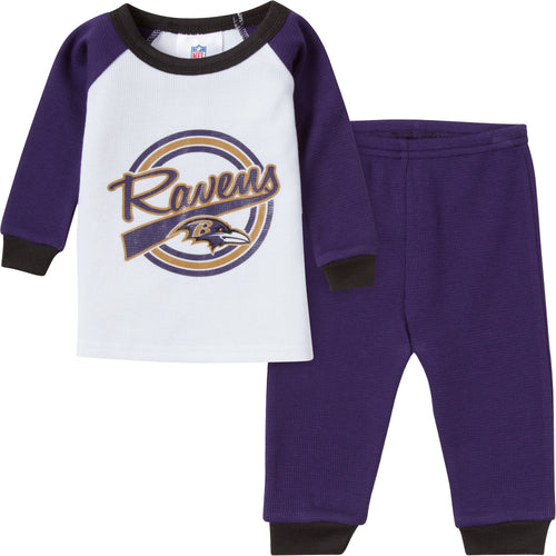 Ravens 2 Pc Thermal PJs