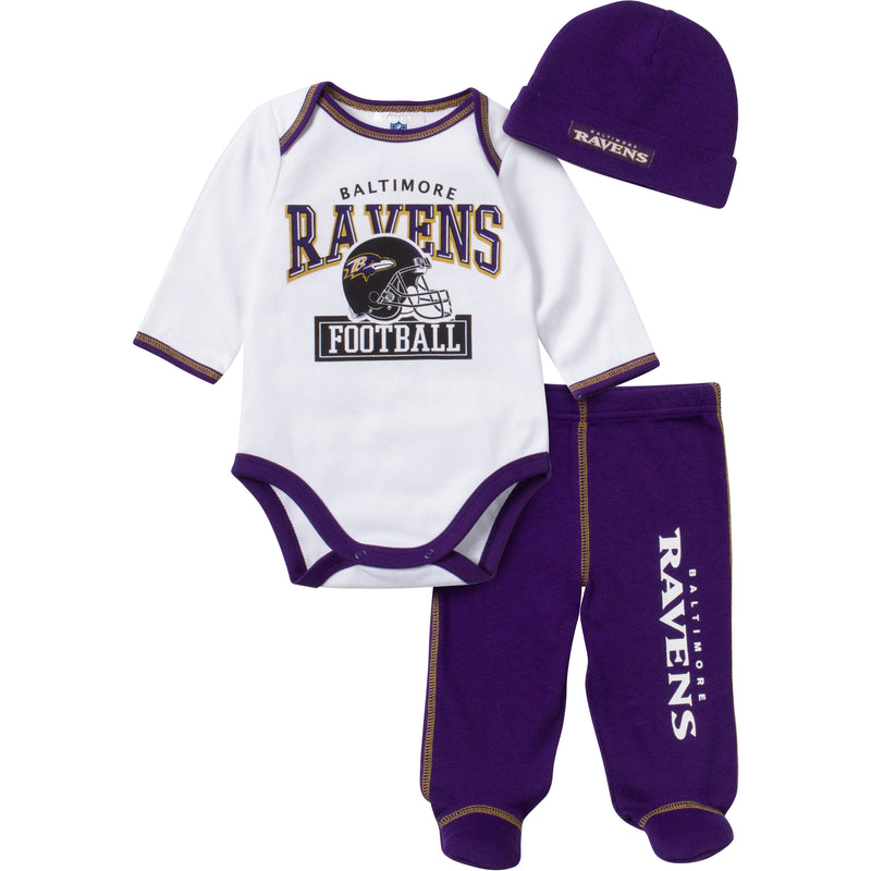 Baby Ravens Fan 3 Piece Outfit