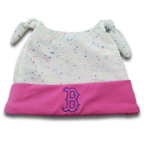 Red Sox Newborn Speckled Beanie (Pink)