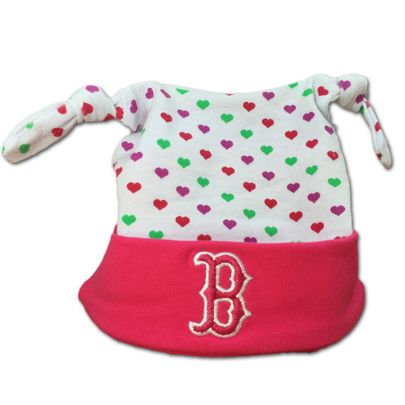 Pink I Love the Red Sox Baby Beanie