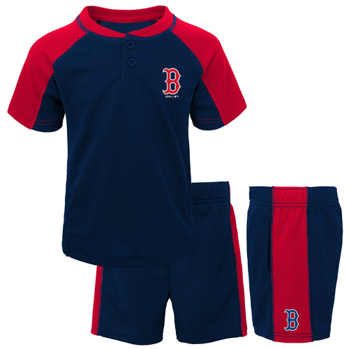 Red Sox Kid Baseball Shirt and Shorts Set