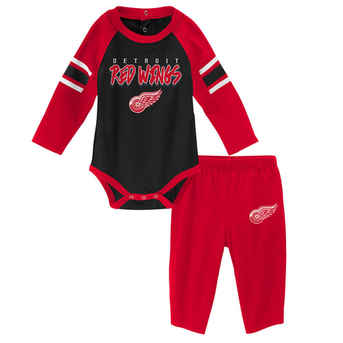 Red Wings Long Sleeve Bodysuit and Pants Outfit