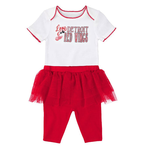 Red Wings Baby Girl Creeper and Tutu Leggings
