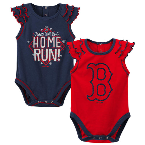 Red Sox Diamond Girl 2 Piece Bodysuit Set