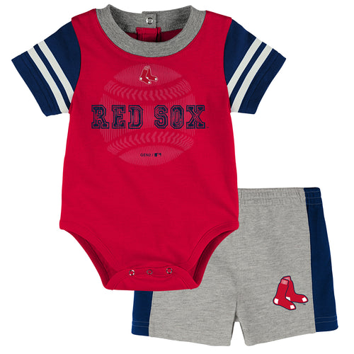 Red Sox Baby Boy Bodysuit with Shorts