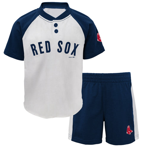 Red Sox Boy Short Sleeve Shirt and Shorts Set