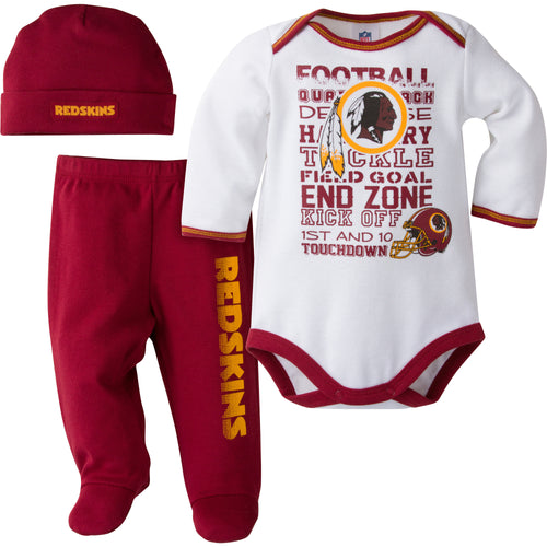 Redskins Baby 3 Piece Outfit