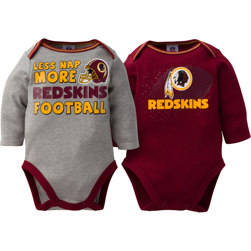 Baby Redskins Long Sleeve Onesie Two Pack