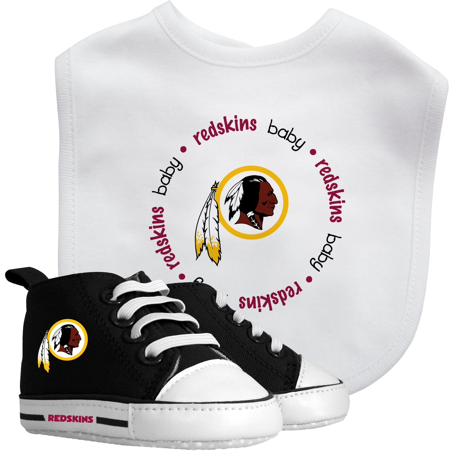 Redskins Baby Bib with Pre-Walking Shoes – babyfans 2746b6a30