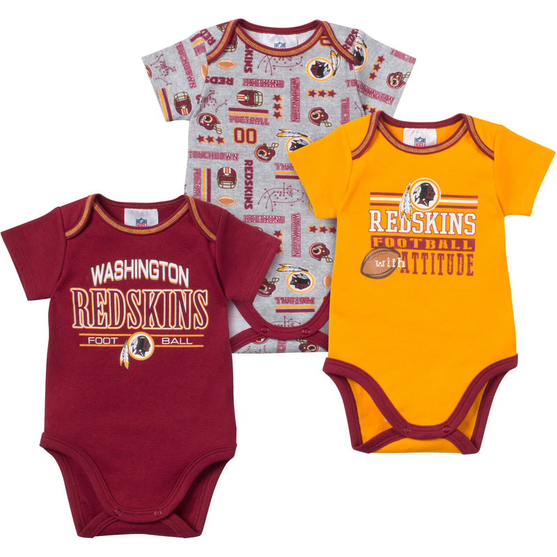Baby Redskins Fan Onesie 3 Pack