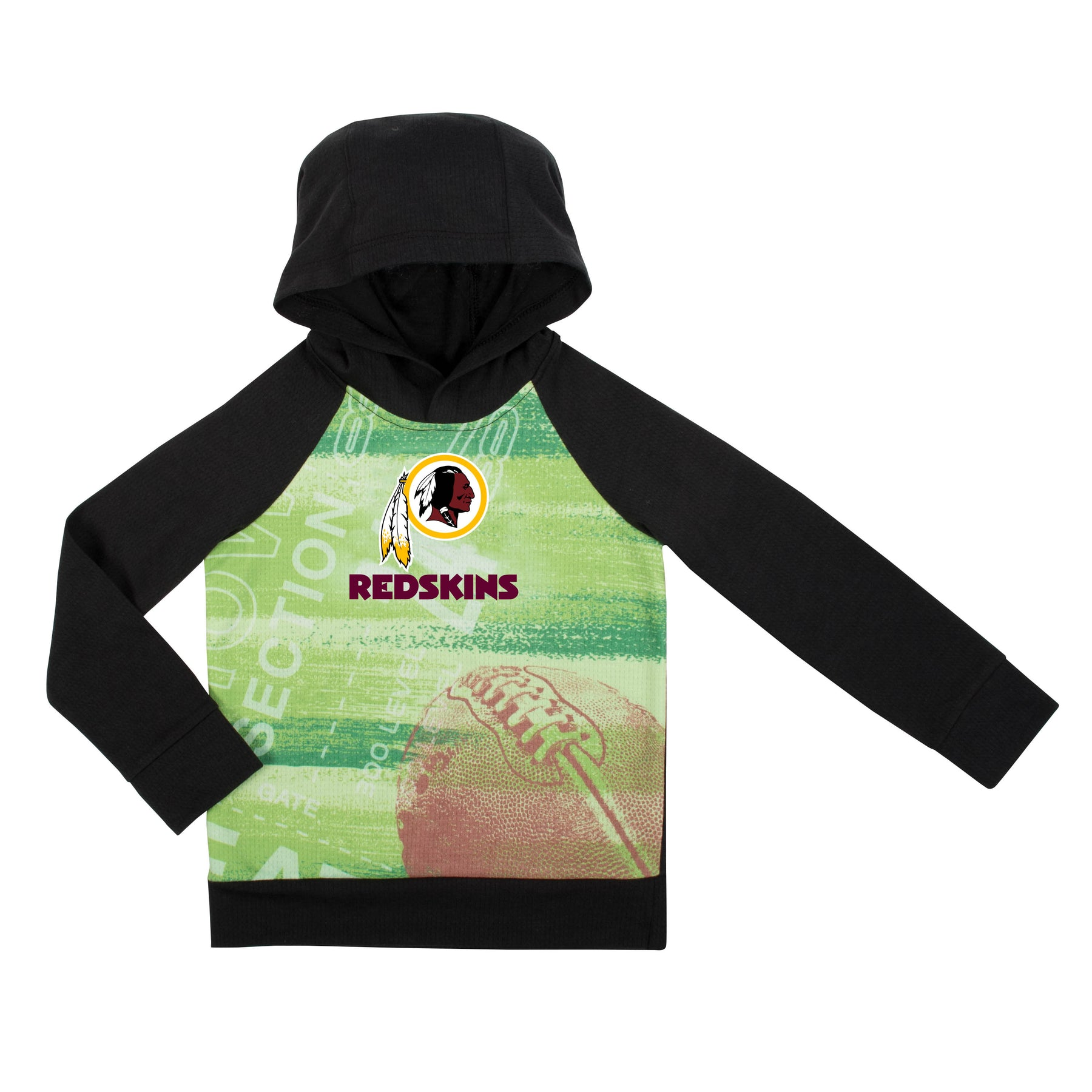new style a42a9 4355f redskins green hoodie