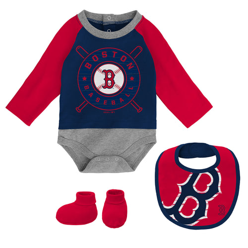 Red Sox Baseball Baby Outfit