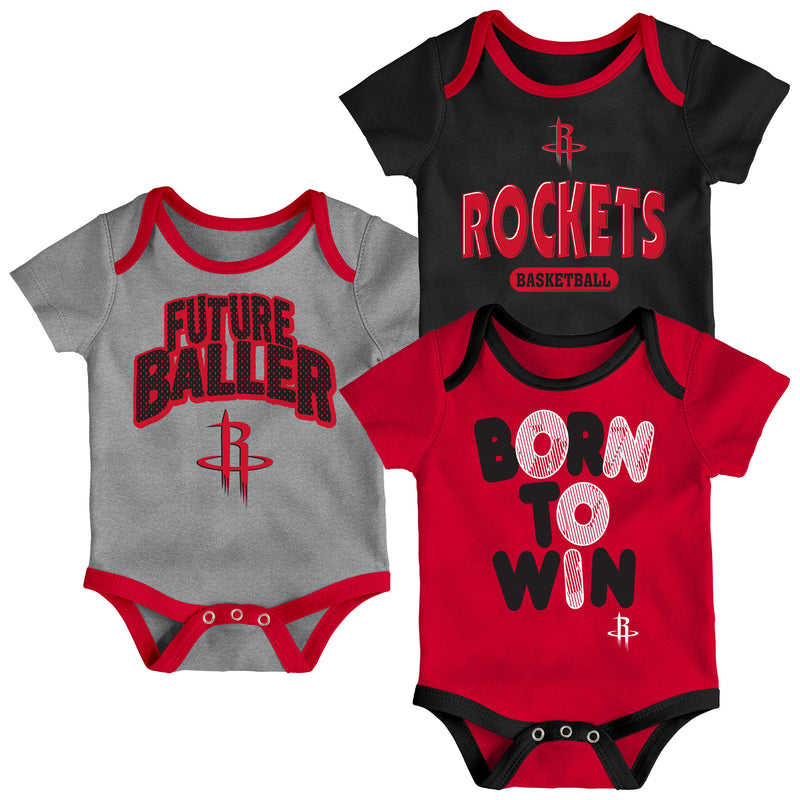 Rockets Future Baller 3-Pack Bodysuit Set