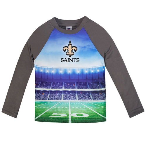Saints Long Sleeve Football Performance Tee