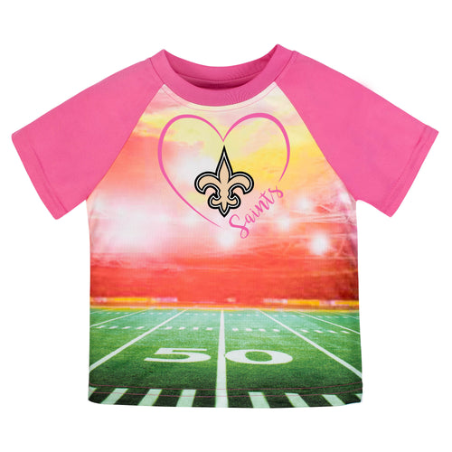 Saints Girl Pink Short Sleeve Stadium Tee