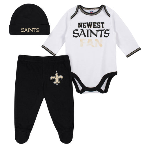 purchase cheap 0efb4 af7fd NFL Infant Clothing – New Orleans Saints Baby Apparel – babyfans