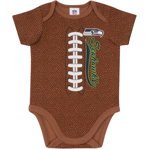 Seahawks Baby Fan Football Bodysuit