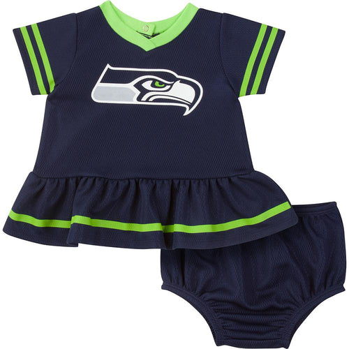 Seahawks Baby Girls Dress Set with Panty