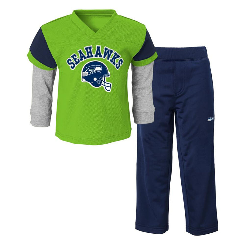 Seahawks Infant/Toddler Jersey Style Pant Set