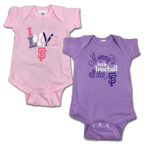 Giants Mommy's Little Baseball Allstar 2-Pack