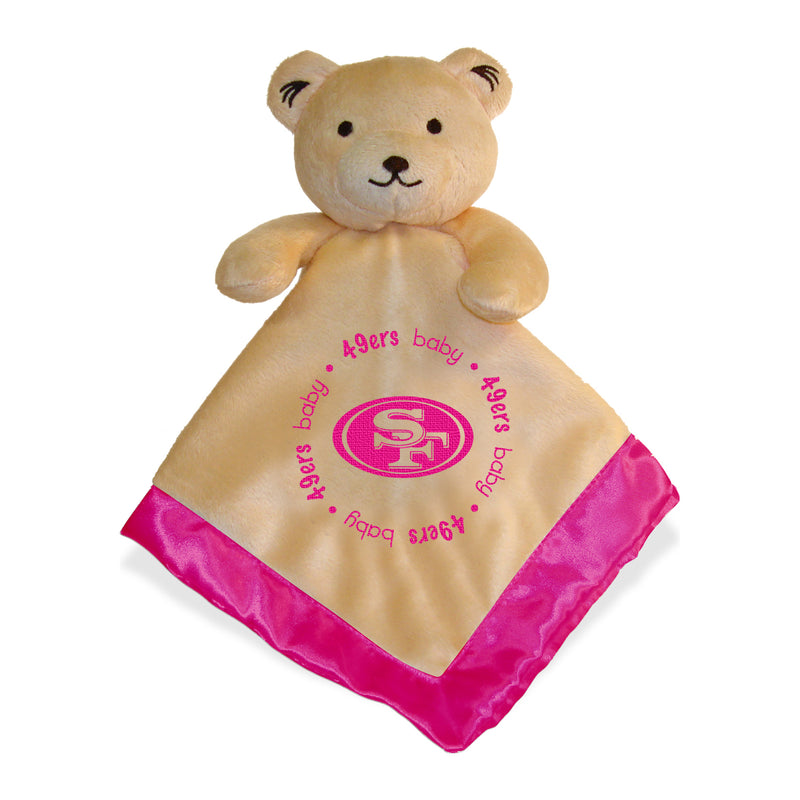 Pink SF 49ers Baby Security Blanket