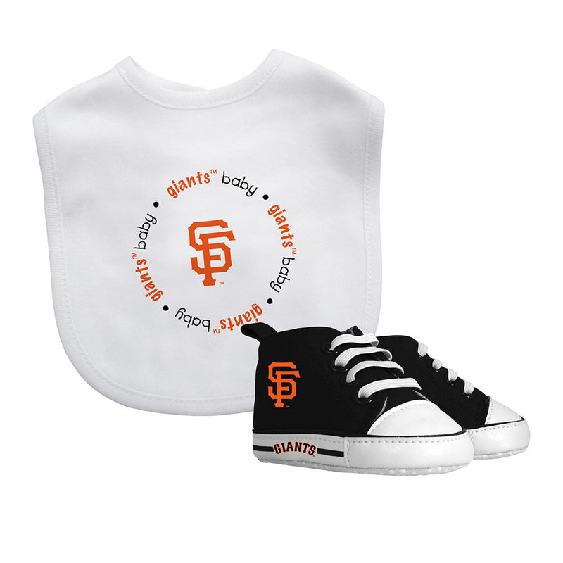 SF Giants Baby Bib with Pre-Walking Shoes