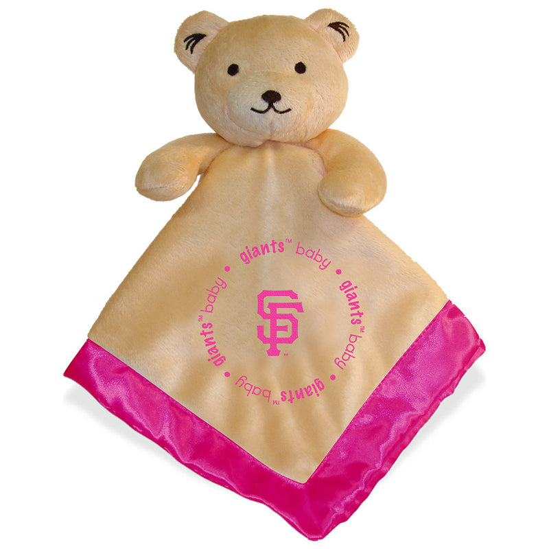 Pink SF Giants Baby Security Blanket