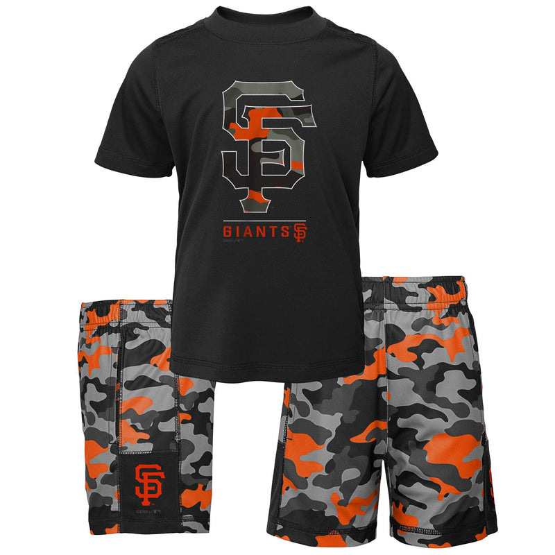 Giants Camo Shirt and Shorts