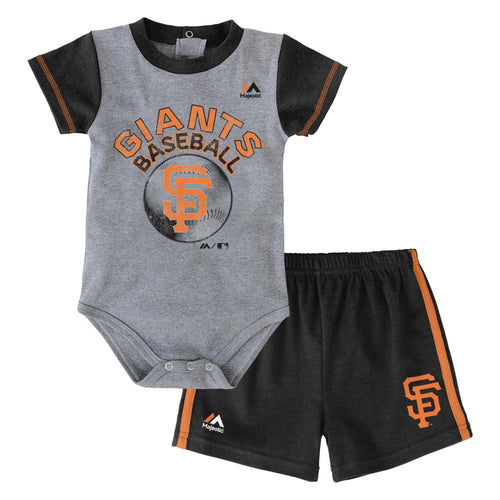 Giants Baby Jersey Bodysuit with Shorts