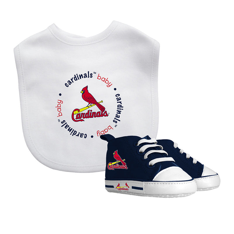 Cardinals Baby Bib with Pre-Walking Shoes