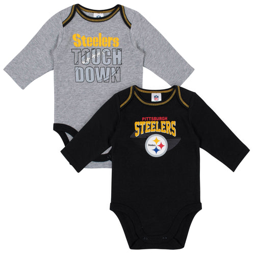Pittsburgh Steelers Baby Boy Long Sleeve Bodysuits