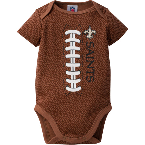 Saints Baby Fan Pigskin Onesie