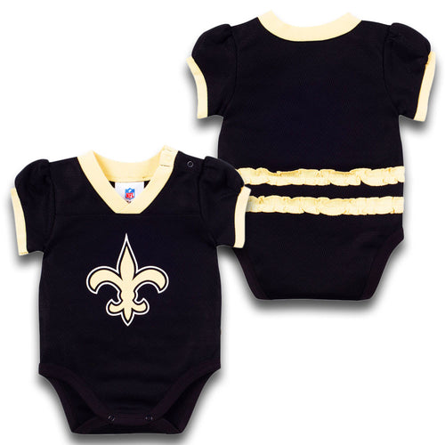 Baby Girl Saints Jersey Onesie
