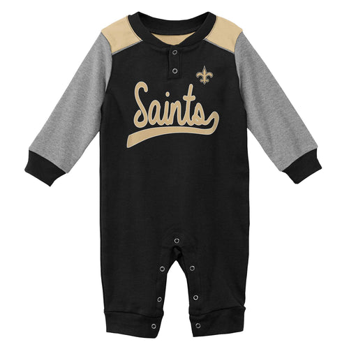 Saints Game Time Long Sleeve Coverall