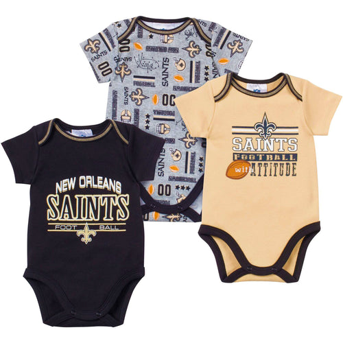 Baby Saints Fan Onesie 3 Pack
