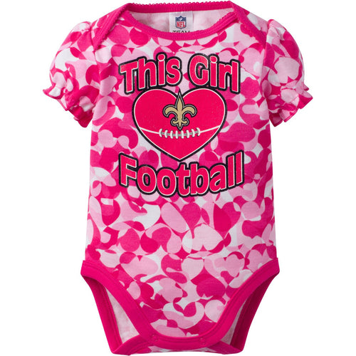 Saints Infant Girl Camo Bodysuit