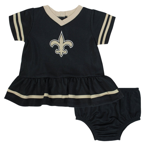 Saints Baby Girl Team Dress with Bloomers
