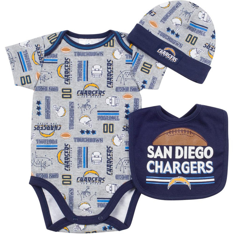 Baby Chargers Fan Onesie, Cap and Bib