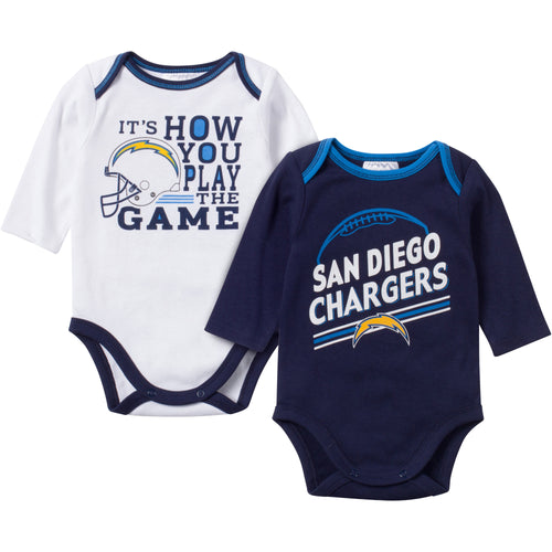 Baby Chargers Fan Long Sleeve Onesie 2 Pack