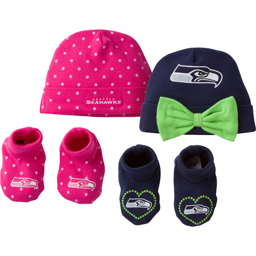 Seahawks Sweetheart Caps and Booties Set