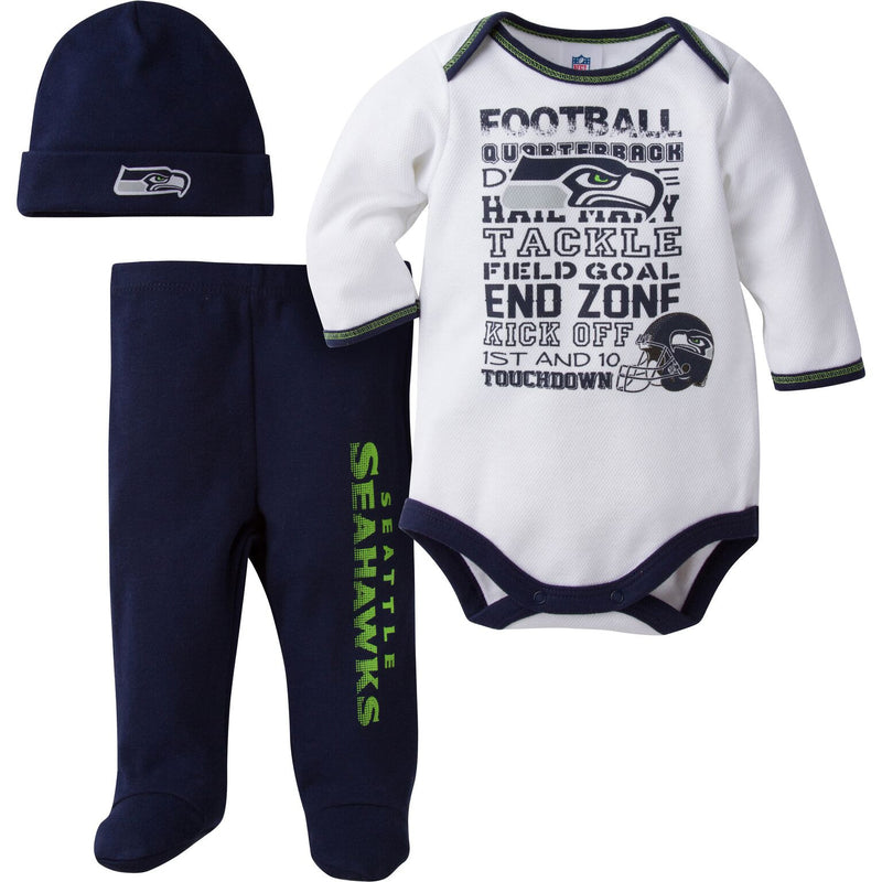 Seahawks Baby 3 Piece Outfit