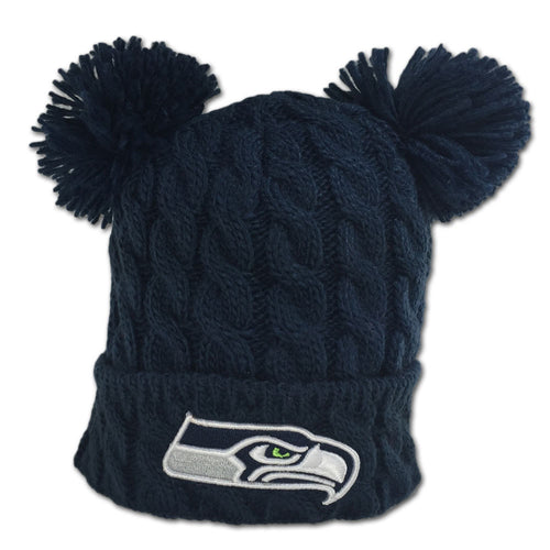 Seahawks Double Pom Pom Hat