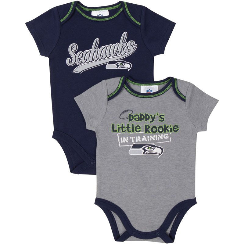 Daddy's Little Seahawks Rookie Body Suits