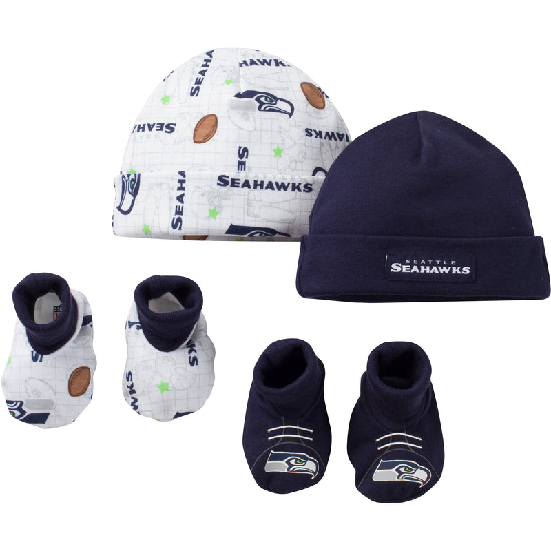 Seahawks Infant Logo Cap and Booties Set