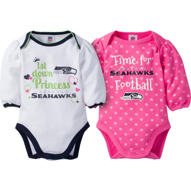 Seahawks Baby Princess Bodysuit Set