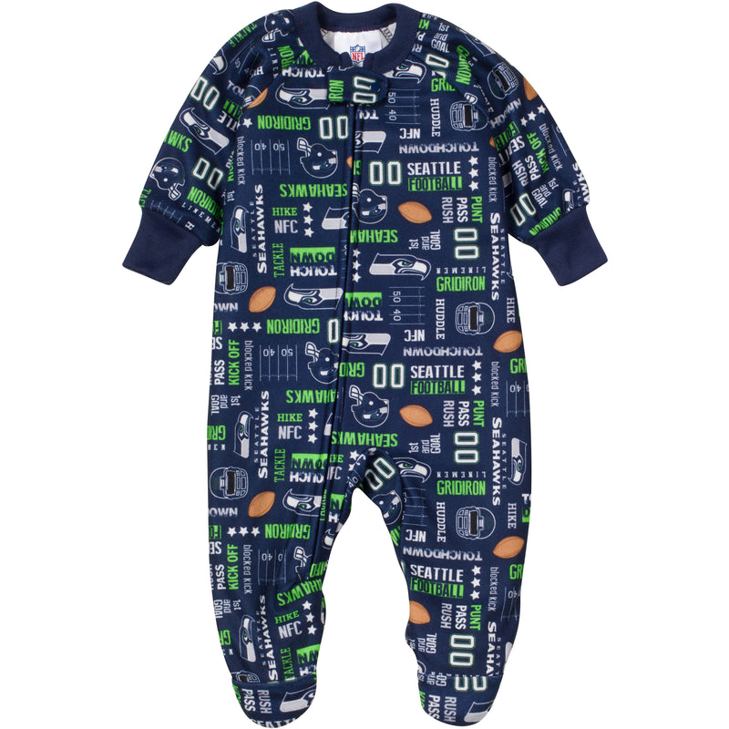 Seattle Seahawks Logo Printed Blanket Sleeper