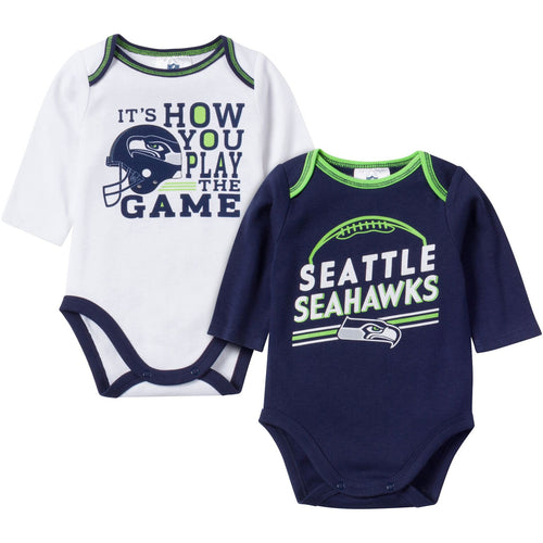 Baby Seahawks Fan Long Sleeve Onesie